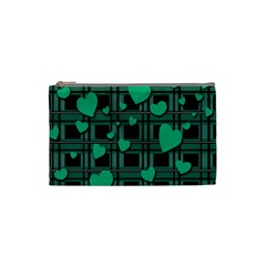 Green Love Cosmetic Bag (small)  by Valentinaart