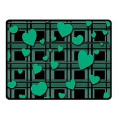 Green Love Fleece Blanket (small) by Valentinaart