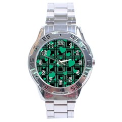 Green Love Stainless Steel Analogue Watch by Valentinaart