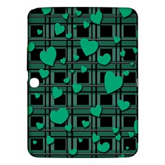 Green Love Samsung Galaxy Tab 3 (10 1 ) P5200 Hardshell Case  by Valentinaart