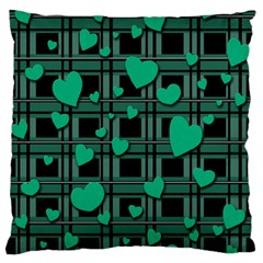 Green Love Standard Flano Cushion Case (one Side) by Valentinaart