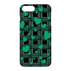 Green Love Apple Iphone 7 Plus Hardshell Case by Valentinaart