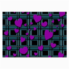 Purple Love Large Glasses Cloth by Valentinaart