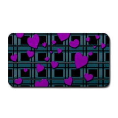 Purple Love Medium Bar Mats by Valentinaart