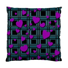 Purple Love Standard Cushion Case (two Sides) by Valentinaart