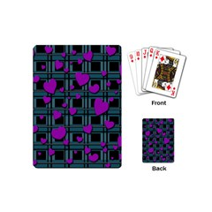 Purple Love Playing Cards (mini)  by Valentinaart