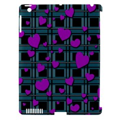 Purple Love Apple Ipad 3/4 Hardshell Case (compatible With Smart Cover) by Valentinaart