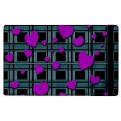 Purple Love Apple Ipad 2 Flip Case by Valentinaart