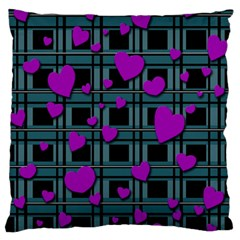 Purple Love Standard Flano Cushion Case (one Side) by Valentinaart