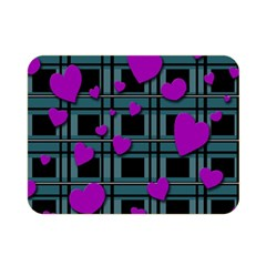 Purple Love Double Sided Flano Blanket (mini)  by Valentinaart