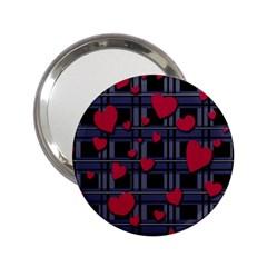 Decorative Love 2 25  Handbag Mirrors by Valentinaart