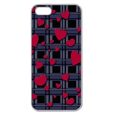 Decorative Love Apple Seamless Iphone 5 Case (clear) by Valentinaart