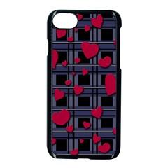 Decorative love Apple iPhone 7 Seamless Case (Black)