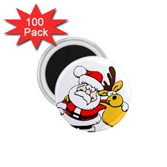 Christmas Santa Claus 1 75  Magnets (100 Pack)  by Onesevenart