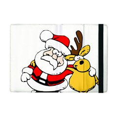 Christmas Santa Claus Apple Ipad Mini Flip Case by Onesevenart