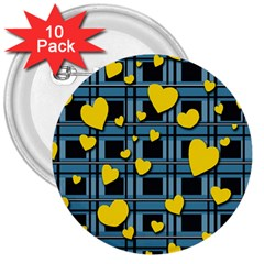 Love Design 3  Buttons (10 Pack)  by Valentinaart