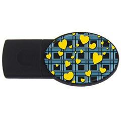 Love Design Usb Flash Drive Oval (4 Gb)  by Valentinaart