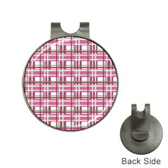 Pink Plaid Pattern Hat Clips With Golf Markers by Valentinaart