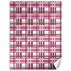 Pink Plaid Pattern Canvas 36  X 48   by Valentinaart