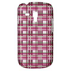 Pink Plaid Pattern Galaxy S3 Mini by Valentinaart