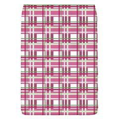 Pink Plaid Pattern Flap Covers (s)  by Valentinaart