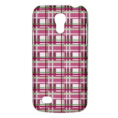 Pink Plaid Pattern Galaxy S4 Mini by Valentinaart