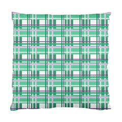 Green Plaid Pattern Standard Cushion Case (one Side) by Valentinaart