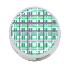 Green Plaid Pattern 4 Port Usb Hub (one Side) by Valentinaart
