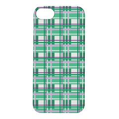 Green Plaid Pattern Apple Iphone 5s/ Se Hardshell Case by Valentinaart