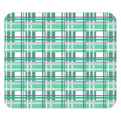 Green plaid pattern Double Sided Flano Blanket (Small)  by Valentinaart