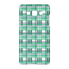Green Plaid Pattern Samsung Galaxy A5 Hardshell Case  by Valentinaart