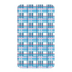 Blue Plaid Pattern Memory Card Reader by Valentinaart