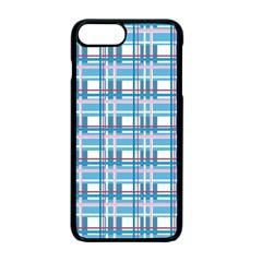 Blue Plaid Pattern Apple Iphone 7 Plus Seamless Case (black)