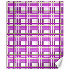 Purple Plaid Pattern Canvas 8  X 10  by Valentinaart
