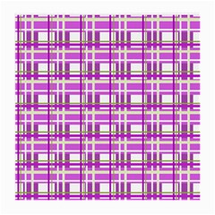 Purple Plaid Pattern Medium Glasses Cloth by Valentinaart