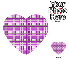 Purple Plaid Pattern Multi Purpose Cards (heart)  by Valentinaart