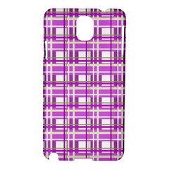 Purple Plaid Pattern Samsung Galaxy Note 3 N9005 Hardshell Case by Valentinaart