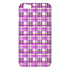 Purple Plaid Pattern Iphone 6 Plus/6s Plus Tpu Case by Valentinaart