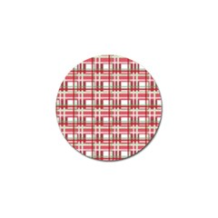 Red Plaid Pattern Golf Ball Marker (10 Pack) by Valentinaart
