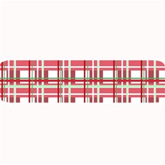 Red Plaid Pattern Large Bar Mats by Valentinaart