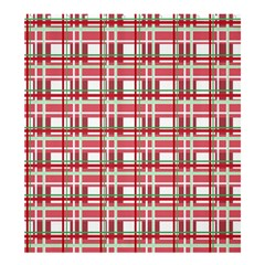 Red Plaid Pattern Shower Curtain 66  X 72  (large)  by Valentinaart