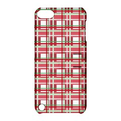 Red Plaid Pattern Apple Ipod Touch 5 Hardshell Case With Stand by Valentinaart