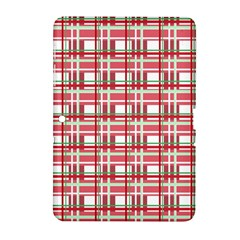 Red Plaid Pattern Samsung Galaxy Tab 2 (10 1 ) P5100 Hardshell Case  by Valentinaart