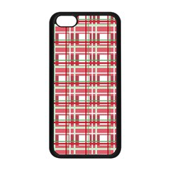 Red Plaid Pattern Apple Iphone 5c Seamless Case (black) by Valentinaart