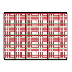 Red Plaid Pattern Double Sided Fleece Blanket (small)  by Valentinaart