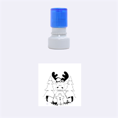 Christmas Moose Rubber Round Stamps (small) by Onesevenart