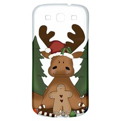 Christmas Moose Samsung Galaxy S3 S Iii Classic Hardshell Back Case by Onesevenart
