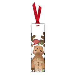 Christmas Moose Small Book Marks by Onesevenart