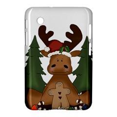 Christmas Moose Samsung Galaxy Tab 2 (7 ) P3100 Hardshell Case  by Onesevenart