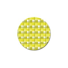 Yellow Plaid Pattern Golf Ball Marker (4 Pack) by Valentinaart
